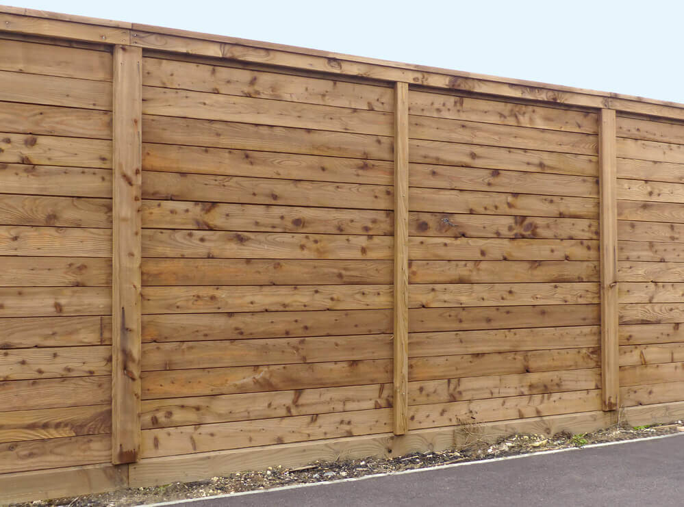 high privacy timber fence made of timber